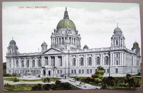 Belfast City Hall County Co. Antrim / 1910 by AtticEphemera