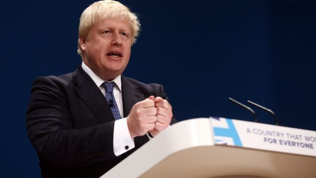 Boris Johnson steals Tory party show with funny speech about the UK's place in the world - The Sydney Morning Herald #757Live