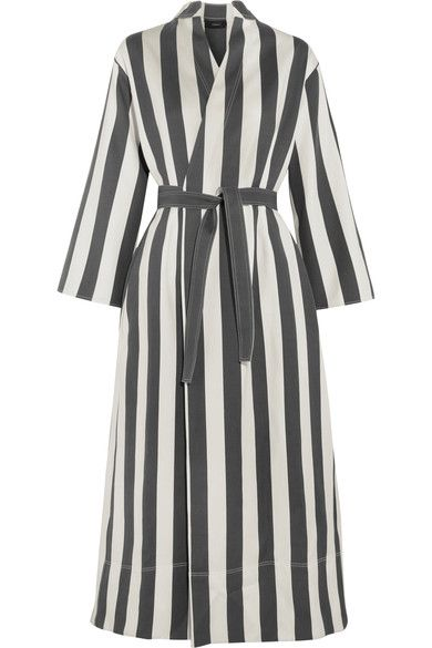 Joseph - Laurence Striped Cotton And Silk-blend Wrap Dress - White