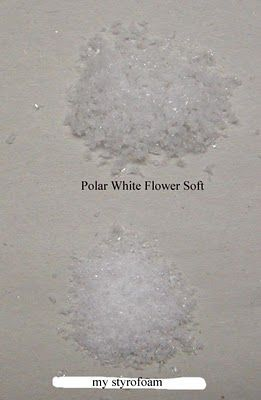 Love this tutorial: Make Your Own colored fluff for flowers and snow how to
