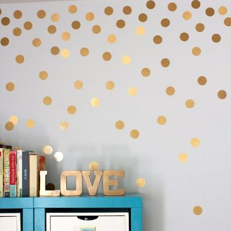 Gold Polka Dots Wall Sticker Baby Nursery Stickers Kids Golden Polka Dots Children Wall Decals Home Decor DIY Vinyl Wall Art P5-in Wall Stickers from Home & Garden on Aliexpress.com | Alibaba Group