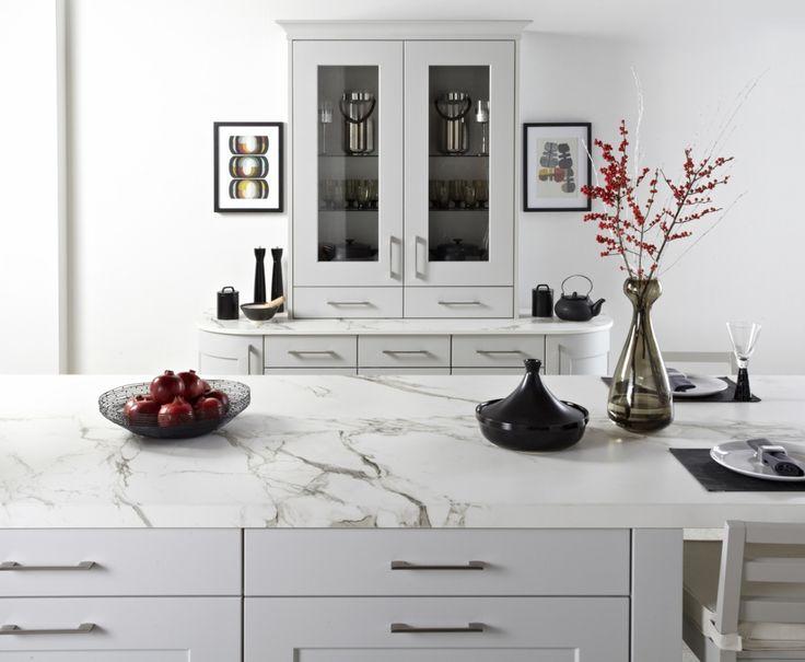 Burbidge's Stowe Kitchen in Matt Light Grey - Dresser and Drawers