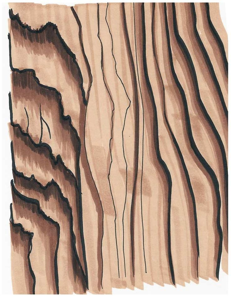 Wood Texture Drawing Architecture