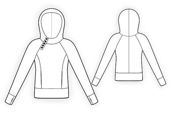 4097 PDF Sewing Pattern for Sweatshirt Personalized by TipTopFit