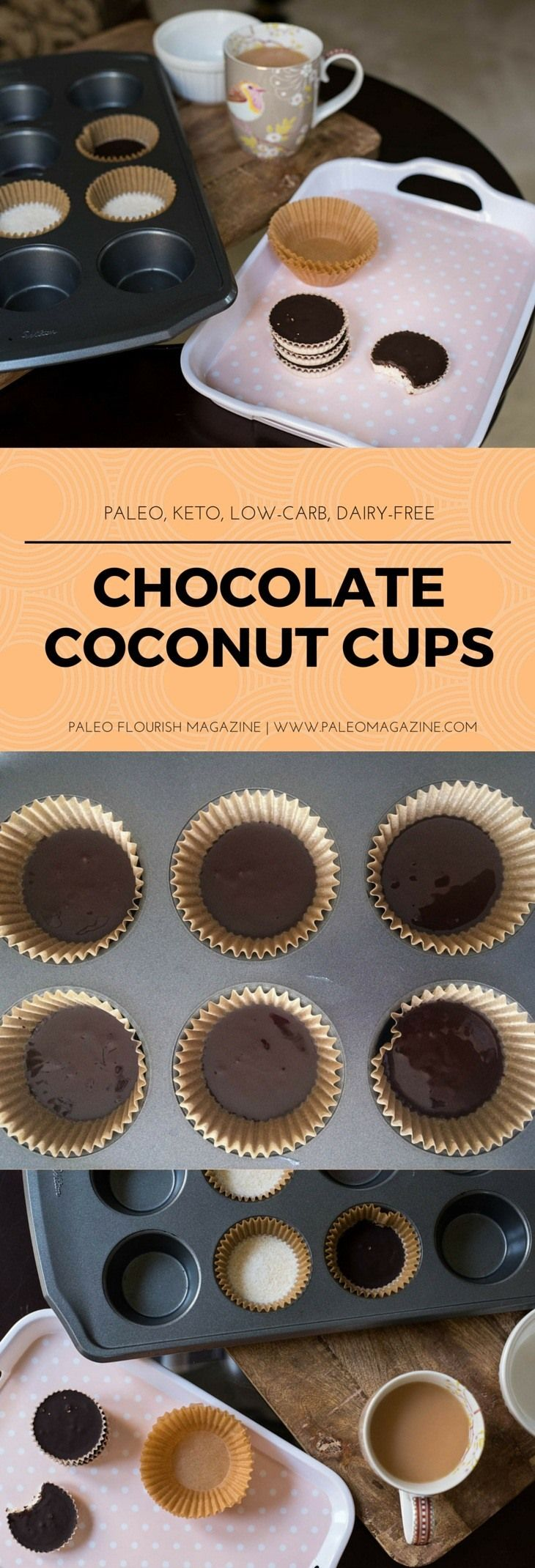 Chocolate Coconut Cups Recipe [Paleo, Keto, Low-Carb, Dairy-Free] #paleo #recipes #glutenfree http://paleomagazine.com/chocolate-coconut-cups-recipe-paleo-keto-lowcarb-dairyfree