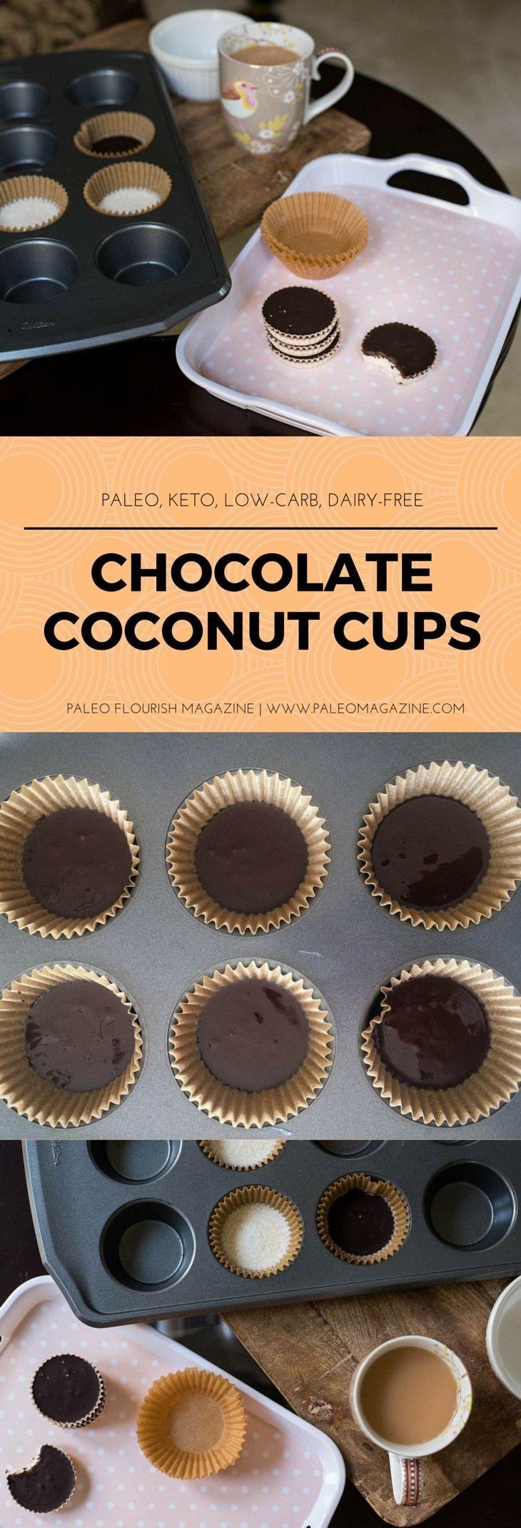 Chocolate Coconut Cups Recipe [Paleo, Keto, Low-Carb, Dairy-Free] #paleo #recipes #glutenfree http://paleomagazine.com/chocolate-coconut-cups-recipe-paleo-keto-lowcarb-dairyfree