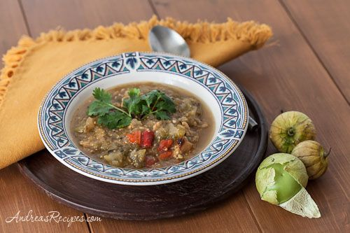 Grilled Tomatillo Chili with Chicken