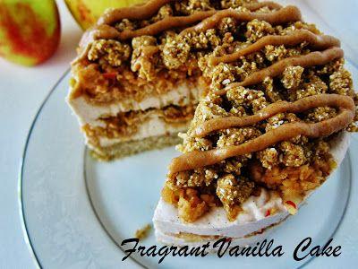 Raw Caramel Apple Cheesecake from Fragrant Vanilla Cake