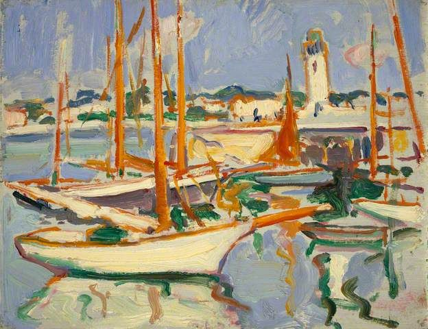 Boats at Royan - Samuel John Peploe  1910