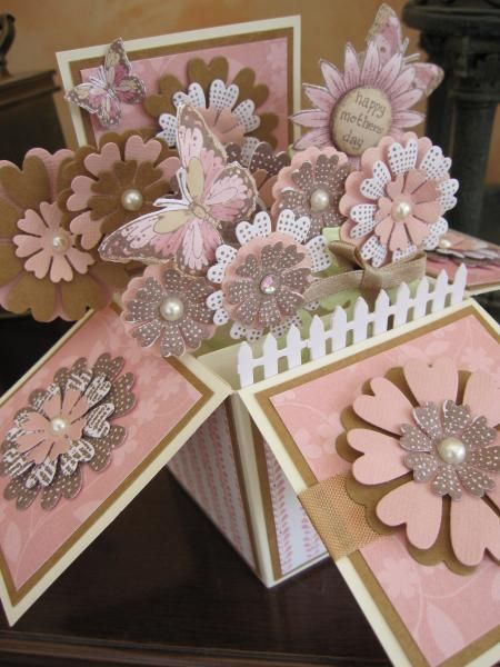 Mother's Day Flower Box by Michele G - Cards and Paper Crafts at Splitcoaststampers