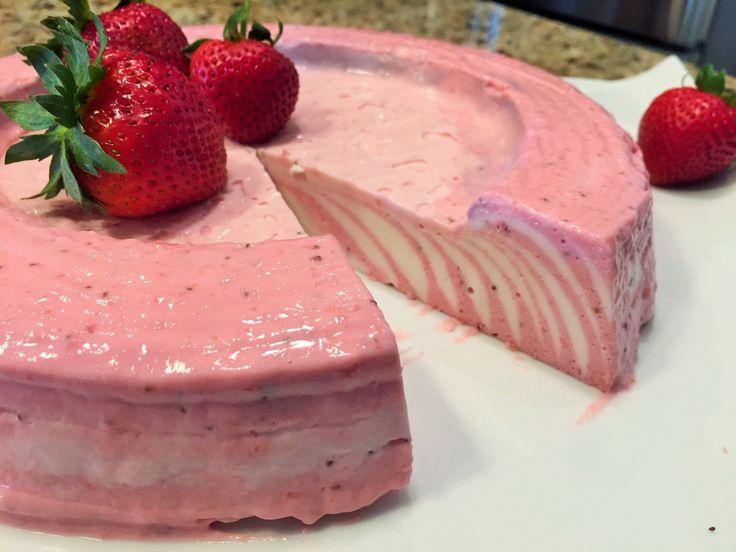 Торт без выпечки   КЛУБНИЧНЫЕ ОБЛАКА. Быстро,  Просто и Вкусно!  Strawbe...