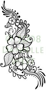 I want a henna tattoo with flowers but I'd like to completely customize it..