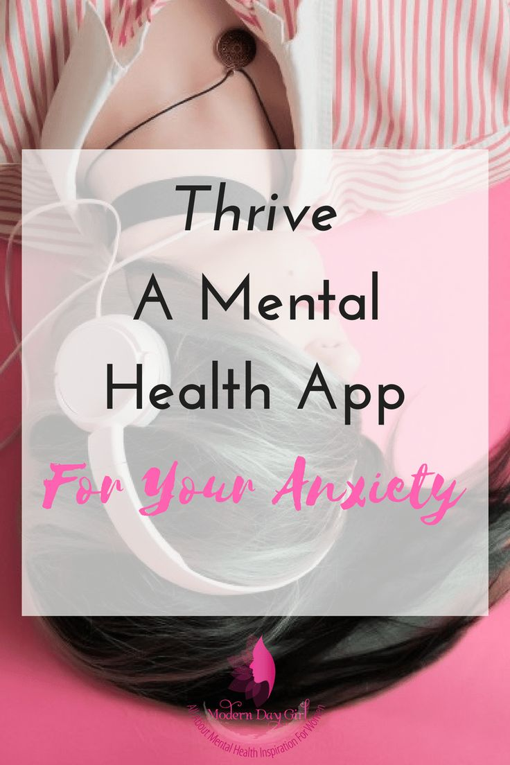 Apps for helping your mental health and anxiety. Thrive is a particularly good one! Have a read now to check it out