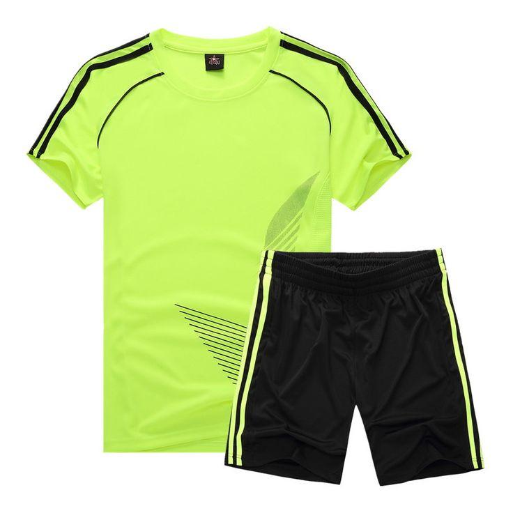 Hot Niños Niñas Ropa Deportiva Niños Fútbol activo Ropa juegos de los Deportes de Los Niños Ropa Niños camiseta de Fútbol Número de Impresión(China)