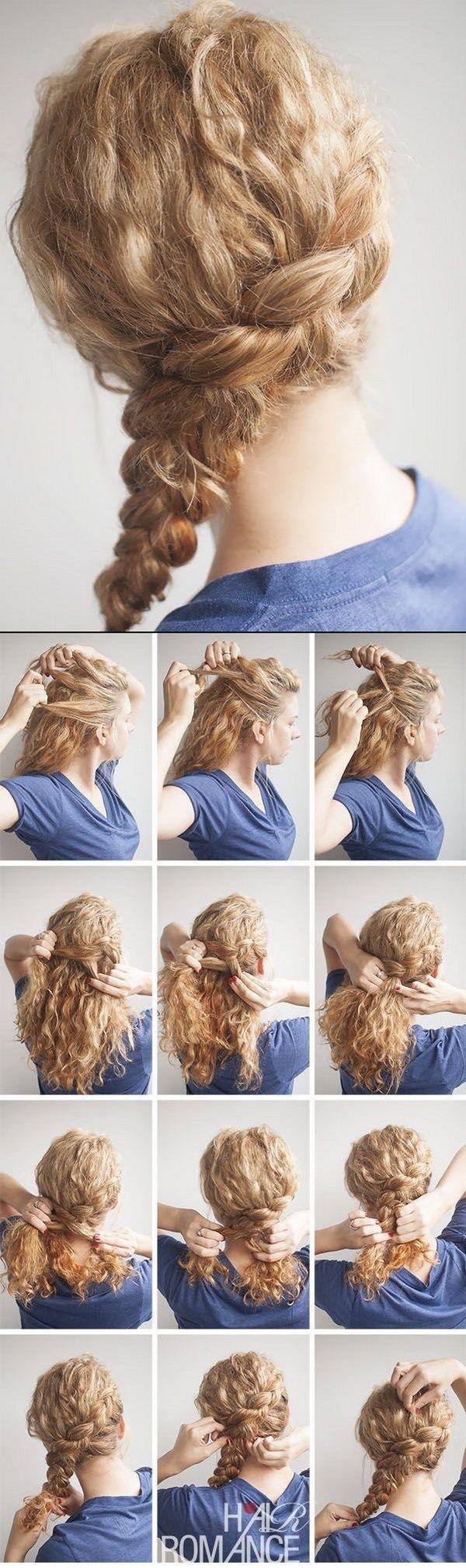 trenza para cabello rizado largo