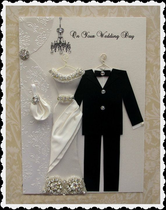 NEW Princess Duchess Personalized Wedding Dress Card / by BSylvar, $36.00