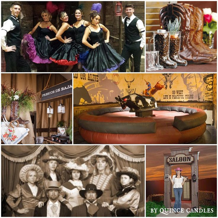 "The Old Wild West Saloon Sweet Fifteen Theme | Quince Candles  ""Dress up idea for damas and chambelanes 