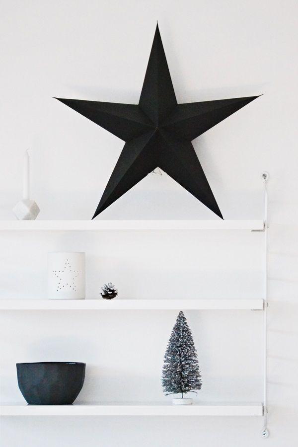 ster metaal zwart http://www.bynoth.nl/a-38130098/kerst/ster-metaal/