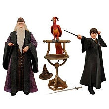Original Dumbledore, Fawkes, and Young Harry Potter Action Figures by NECA