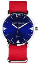 Bruno Banani Cool Color Edition Uhr BR30064 - rot/blau