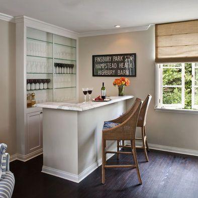 montar un pequeo bar en casa contemporary living roomstransitional - Small Basement Design Ideas