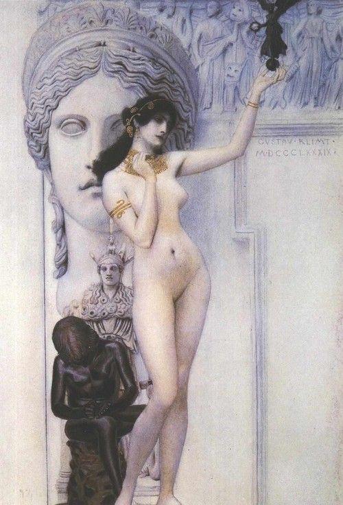 """""""Alegoría de la escultura"""" (Gustav Klimt)"""