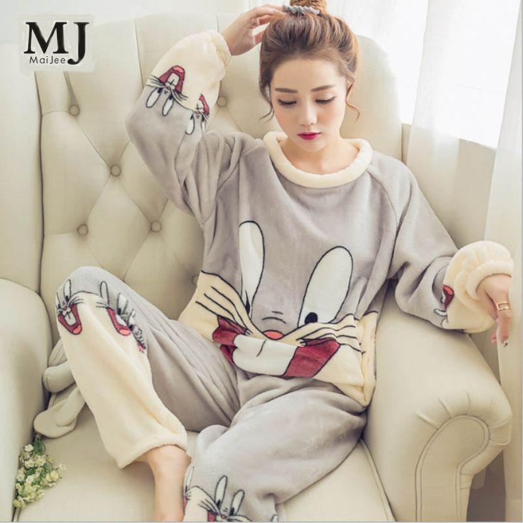 Big Size Thickening Flannel Winter Women Pajama Sets Pajamas Pyjama Women Pijama Mujer Pijamas Entero Pyjamas Feminino Sleepwear #Affiliate