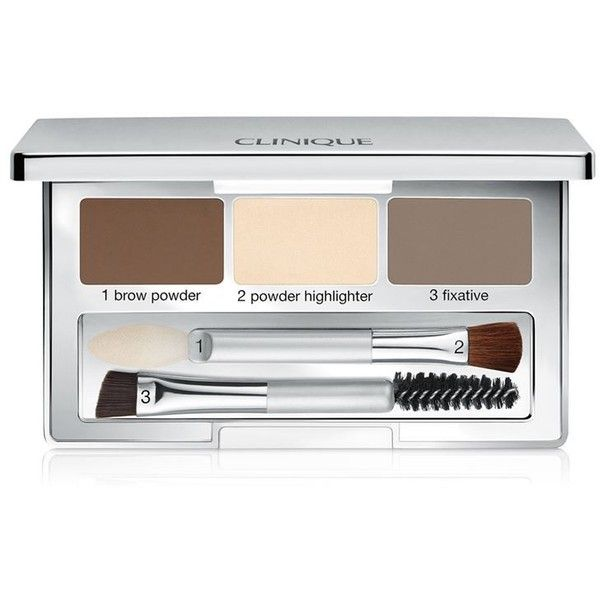 Clinique Pretty Easy Brow Palette (€23) ❤ liked on Polyvore featuring beauty products, makeup, brow kit, clinique, eyebrow kit, palette makeup and eyebrow makeup