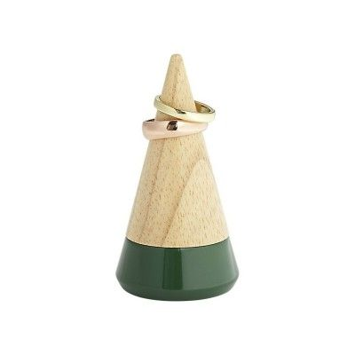 We always love the contemporary funky design of these GEO ring holder built by Umbra. The premium wooden cone shaped design has a racing green painted base and make it perfect for placing in your kitchen or bathroom sinks. Each of these GEO comes in a smart gift box and making it ideal presents for your women.  #GiftIdeasForHer #UnusualGiftsForHer #GiftsForWomen #UniqueGiftsIdeas #CoolGiftsIdeas #UniqueChristmasGifts