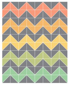 Easy Chevron baby quilt pattern, I just finished it in 5 different pinks and white! Super cute.