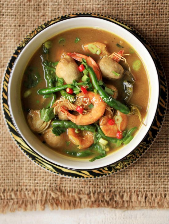 Resep Sayur Asam Udang, Jamur dan Cabai Hijau JTT