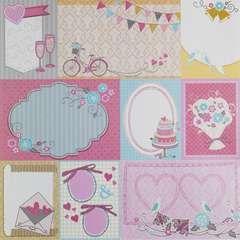 Designark Pink cut-outs - Papper & stämplar för pysslaren