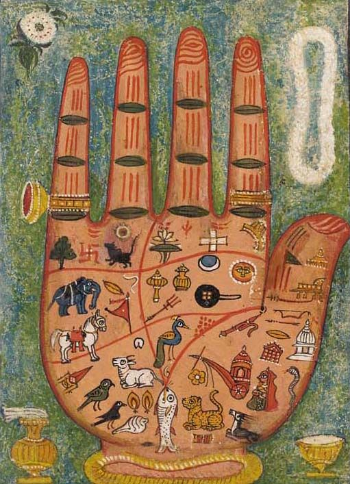 """""""A Painting of a Hand, Hastakara Yantra,"""" 1800s"""