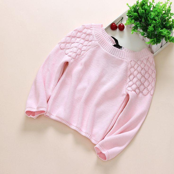 Купить товарНовый 2016 весна осень девушки розовые принцессы пуловер…