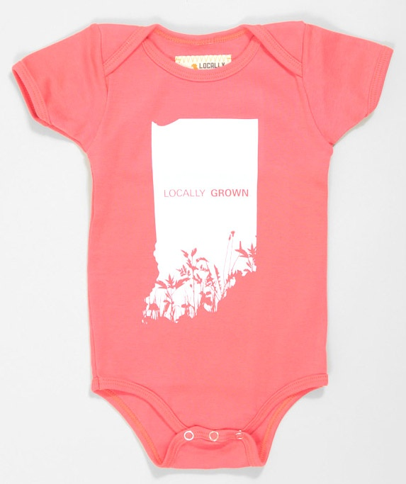 Locally Grown Onesie Would Love This In Diff Color With Alabama On It Indiana Statebabies