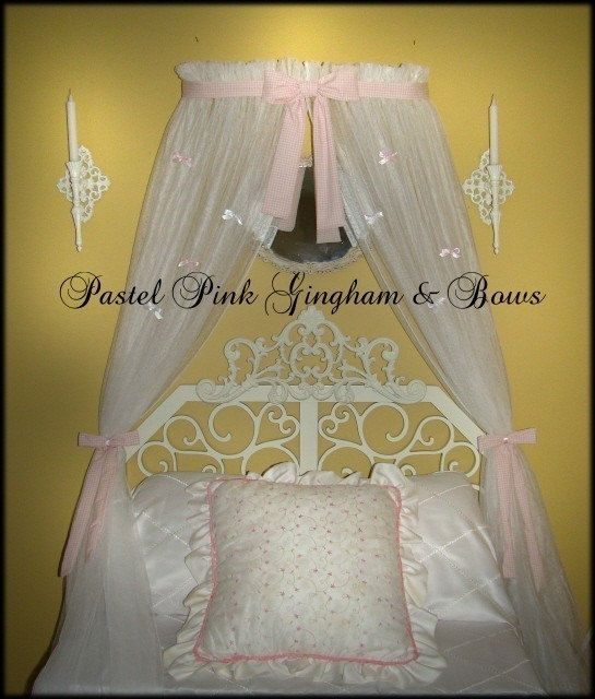 Crib Canopy Teester Valance SaLe Light Pastel by SoZoeyBoutique $59.99 & 241 best Bedroom images on Pinterest | Bed canopies Canopy for ...