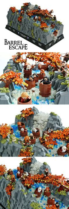 Barrel Escape #LEGO #LOTR