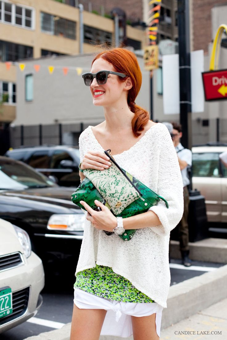 Taylor Tomasi Hill -the red hair is looking so pretty with the green colors