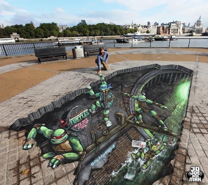#TMNT Sidewalk Art