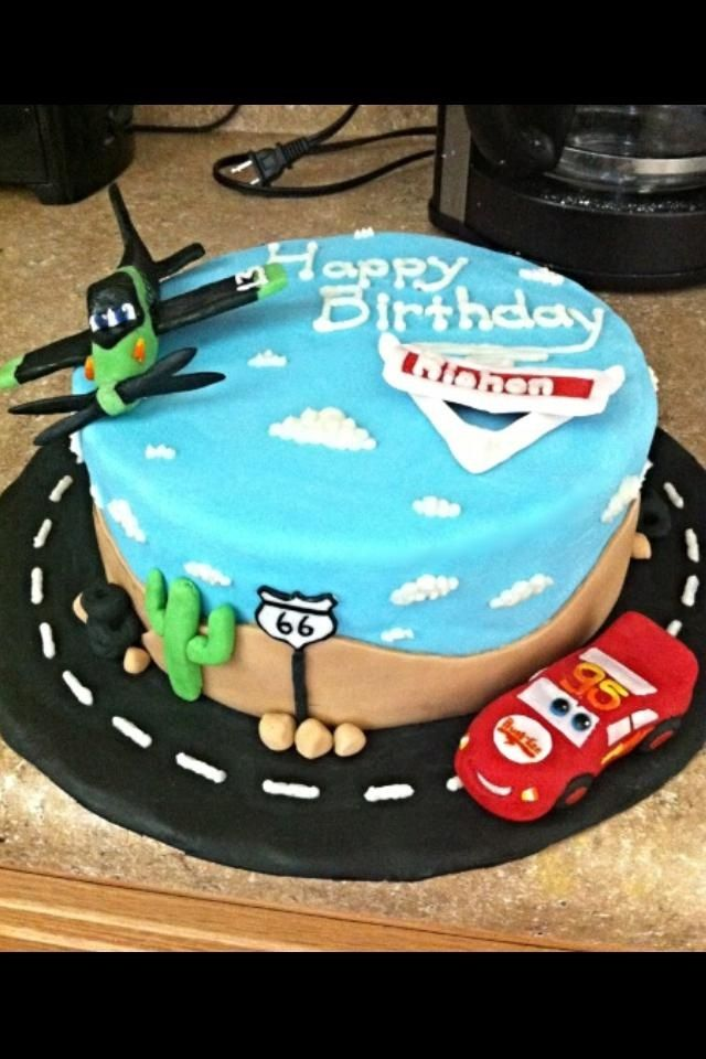 Cars and Planes birthday cake My Darling Confections