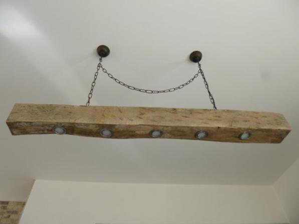 Balkenlampe (LED) aus Echtholz - #OBI Selbstgemacht! Blog. Selbstbauanleitung für jedermann. #DIY