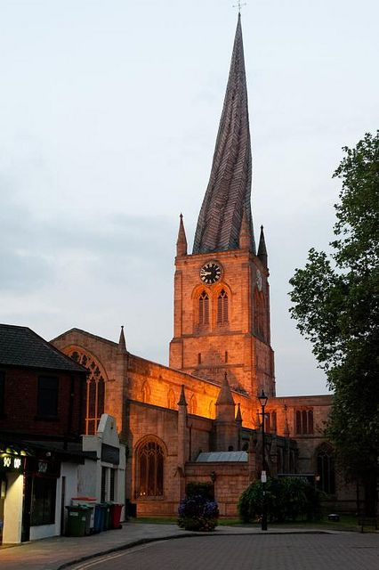 Crooked Spire, Chesterfield, Derbyshire, UK,