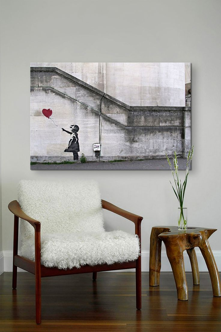 There Is Always Hope Balloon Girl by Banksy Canvas Print   HauteLook