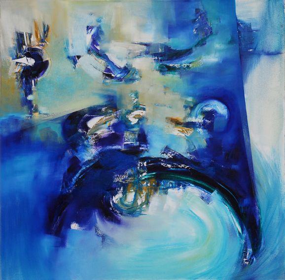 """""""Desde lo alto"""" - Silvia Hilerowicz - Oleo sobre tela - 100 x 100 cm  www.esencialismo.com"""