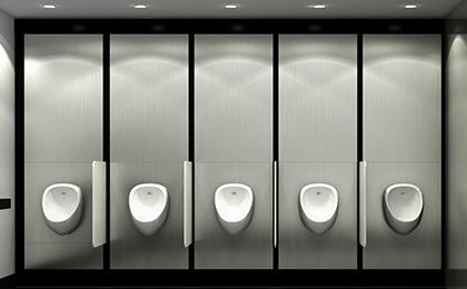 TOILETS Individual urinals from Venesta