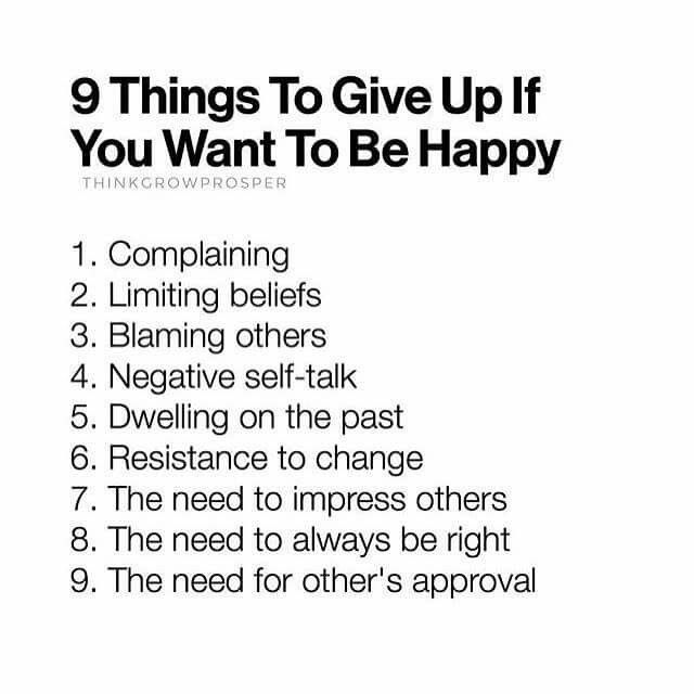 9 Things to Give Up If You Want To Be Happy | Quotes ...