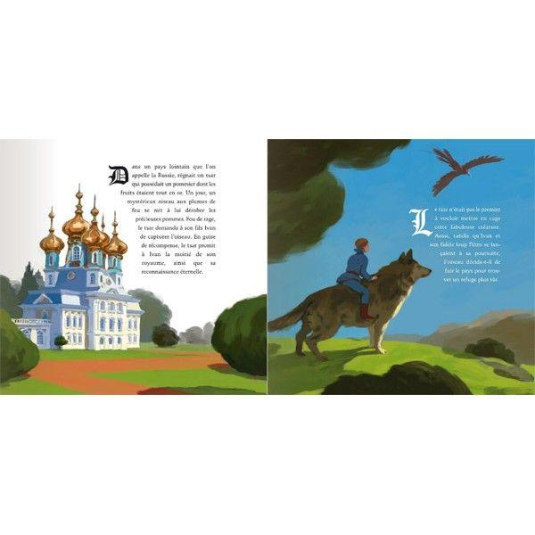 """Joel Cimarron illustration for """"Cendrillon et l'oiseau de feu""""."""