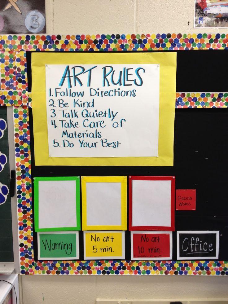 Elementary Classroom Setup Ideas ~ Best art rules ideas on pinterest room