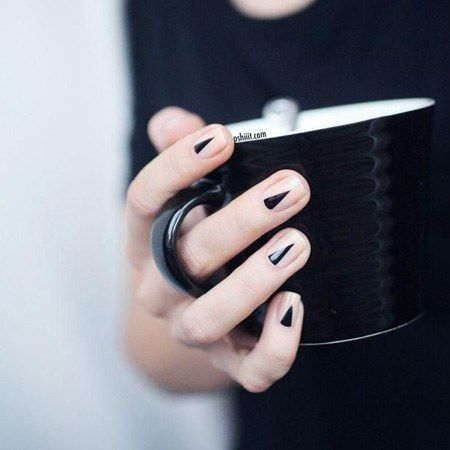 Nail Ideas: The Half-Moon Mani Gets a (Sharp) Twist
