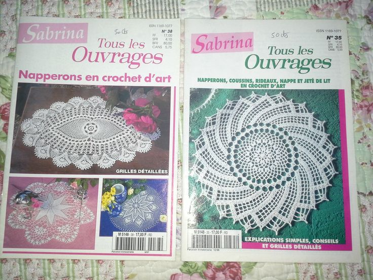 Catalogue Crochet Sabrina Tous les Ouvrages 1996/1997 : Matériel Crochet par l-atelier-de-nanie-tricot